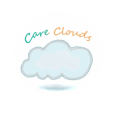 Care Clouds logo with a cute cloud